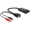 Konverter HDMI > VGA + Audio 1920x1080 (kaablitega)