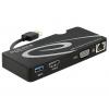 Üleminek USB 3.0 (M) -  HDMI / VGA + Gigabit LAN + USB 3.0 (F)