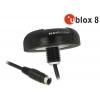 MD6 Serial PPS Multi GNSS vastuvõtja u-blox 8 10.0m, must