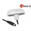 MD6 Serial PPS Multi GNSS vastuvõtja u-blox 8 10.0m, valge