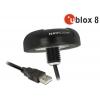 USB 2.0 Multi GNSS vastuvõtja u-blox 8 4.5m, must