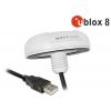 USB 2.0 Multi GNSS vastuvõtja u-blox 8 4.5m, valge