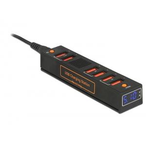 Laadimisjaam 6 x USB, 6.5A, LED indikaator, EU/UK/USA otsikuga laadija