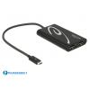 Konverter USB-C Thunderbolt (M) - 2xDisplayport (F) 4K @ 60 Hz, 0.3m, must