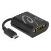 Konverter USB C - RS232 (9 pin), kaabli pikkus 5cm, must