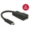 Konverter USB-C (M) - Displayport (F) 4K@60Hz 8cm