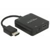 Konverter HDMI (M) - HDMI (F) + Toslink ja 3.5mm heli väljund, usb toide, 2160p (heli eraldaja hdmi-st)