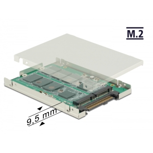 Üleminek SATA Express 29pin - 2 x M.2, 2.5″ karbiga