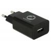 USB tark laadija 100-240V > 5V 2.4A, 1 USB port  + 1.0m USB 2.0 micro-B kaabel, must