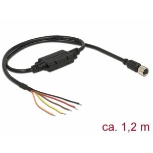 Antennikaabel 1.2m M8 pesa - lahtiste otstega 5V