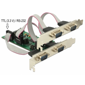 Laienduskaart: PCIe x1, 3 x Serial RS-232 + TTL 3....