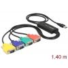 Konverter USB > 4 x RS-232 (DB25M/DB9M) 1.4m...