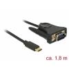 Konverter: USB C > DB9, RS232 (9 pin), 1.8m, must