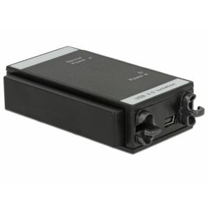 USB isolaator, USB 2.0 A (M) - USB 2.0 A (F), 3kV isolatsiooniga, DIN liistule
