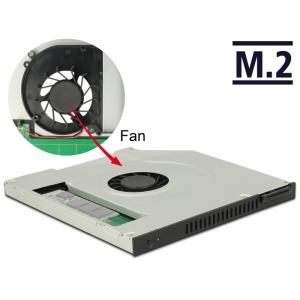 HDD/SSD instalatsiooni raam 5.25″ Slim SATA - M.2 SSD + ventilaator