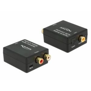 Konverter TosLink/ Digital Coaxial - 2xRCA (analoog audio) HD
