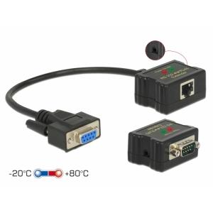 RS-232 pikendaja läbi CATx kuni 1200m +/- 15 kV ESD -20 ~ +80°C