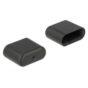 Tolmukaitse USB-C (M), 10tk, must