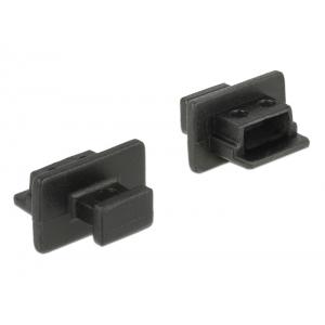 Tolmukaitse USB 2.0 Mini-B, 10tk, must