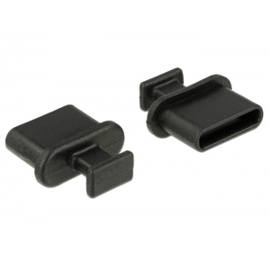Tolmukaitse USB-C, sangaga, 10tk, must