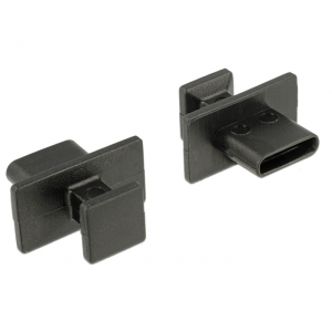 Tolmukaitse USB-C, suure sangaga, 10tk, must
