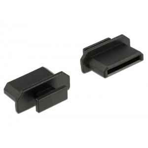 Tolmukaitse mini HDMI pesale, 10tk, sangaga, must