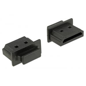 Tolmukaitse HDMI pesale, 10tk, sangaga, must