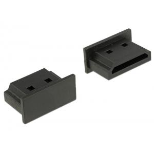 Tolmukaitse HDMI pesale, 10tk, must