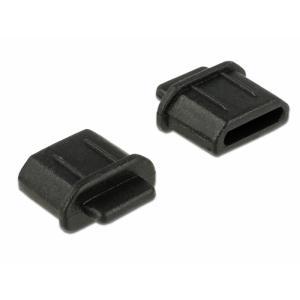 Tolmukaitse micro HDMI pesale, 10tk, sangaga, must