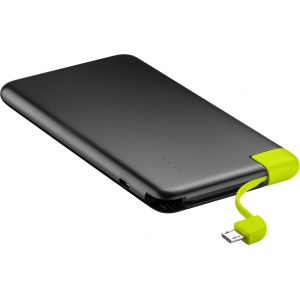 Akupank: 1xUSB 2.0A, 4000mAh Li-Po, integreeritud micro-USB kaabliga (laeb 2-3 nutitelefoni)