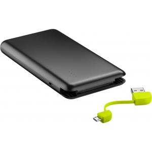 Akupank: 1xUSB 2.0A, 8000mAh Li-Po, integreeritud micro-USB kaabliga (laeb 3-4 nutitelefoni)
