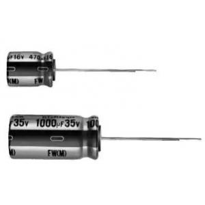 Elektrolüütkondensaator audio 2200uF 16V 12.5x25mm Nichicon FW seeria