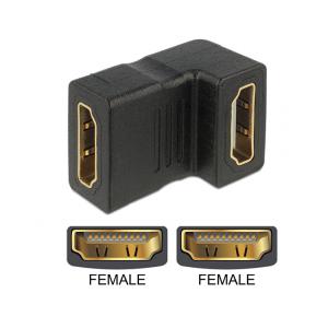 Adapter HDMI (F) - (F) 90° nurgaga üles