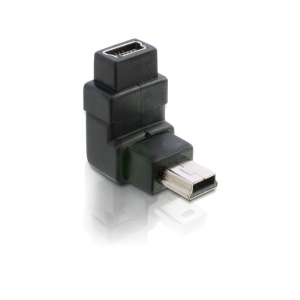 Adapter USB 2.0 Mini B (M) - (F) 90° nurgaga...