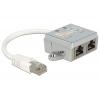 RJ45 10/100 pordi jagaja: 2 x CAT5 Ethernet