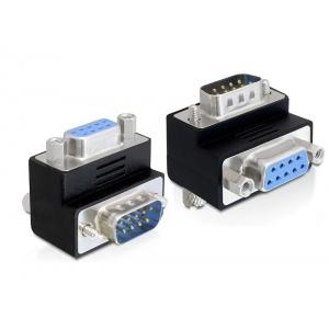 Adapter Sub-D 9 pin (M) - Sub-D 9 pin (F), 90° nurgaga