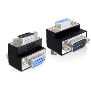 Adapter Sub-D 9 pin (M) - Sub-D 9 pin (F), 270° nurgaga