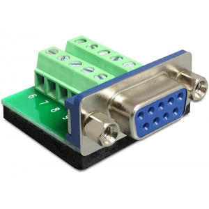 Üleminek Sub-D 9pin (F) - Terminal Block 10pin