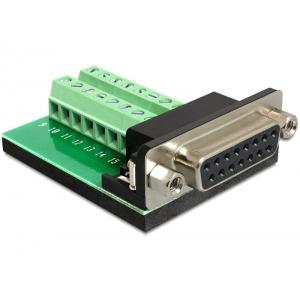 Üleminek Sub-D 15pin (F) - Terminal Block 16pin