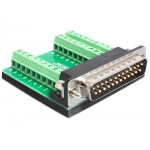Üleminek Sub-D 25pin (M) - Terminal Block 27pin
