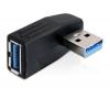 Adapter USB 3.0 (M) - (F) 90° nurgaga horisontaalselt