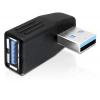 Adapter USB 3.0 (M) - (F) 270° nurgaga horisontaalselt
