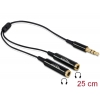 Splitter 3.5mm 3pin (F) - 2x3.5mm (M) 0.25m, must