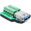 USB 3.0 A (F) - Terminal Block 10pin