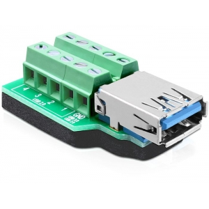 USB 3.0 A (F) - Terminal Block 10pin