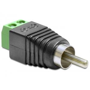 Üleminek RCA (M) - Terminal Block 2 pin