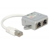 RJ45 10/100 pordi jagaja: 1 x CAT5 Ethernet, 1 x CAT5 ISDN