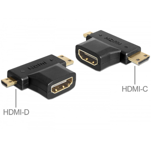 Üleminek HDMI (F) - Mini-C (M), Micro-D (M), must