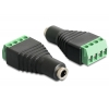 Stereo 3.5mm (F) - Terminal Block 4pin