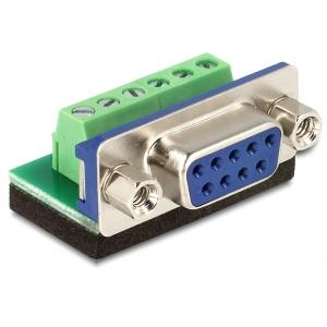 Üleminek Sub-D 9pin (F) - Terminal Block 6pin